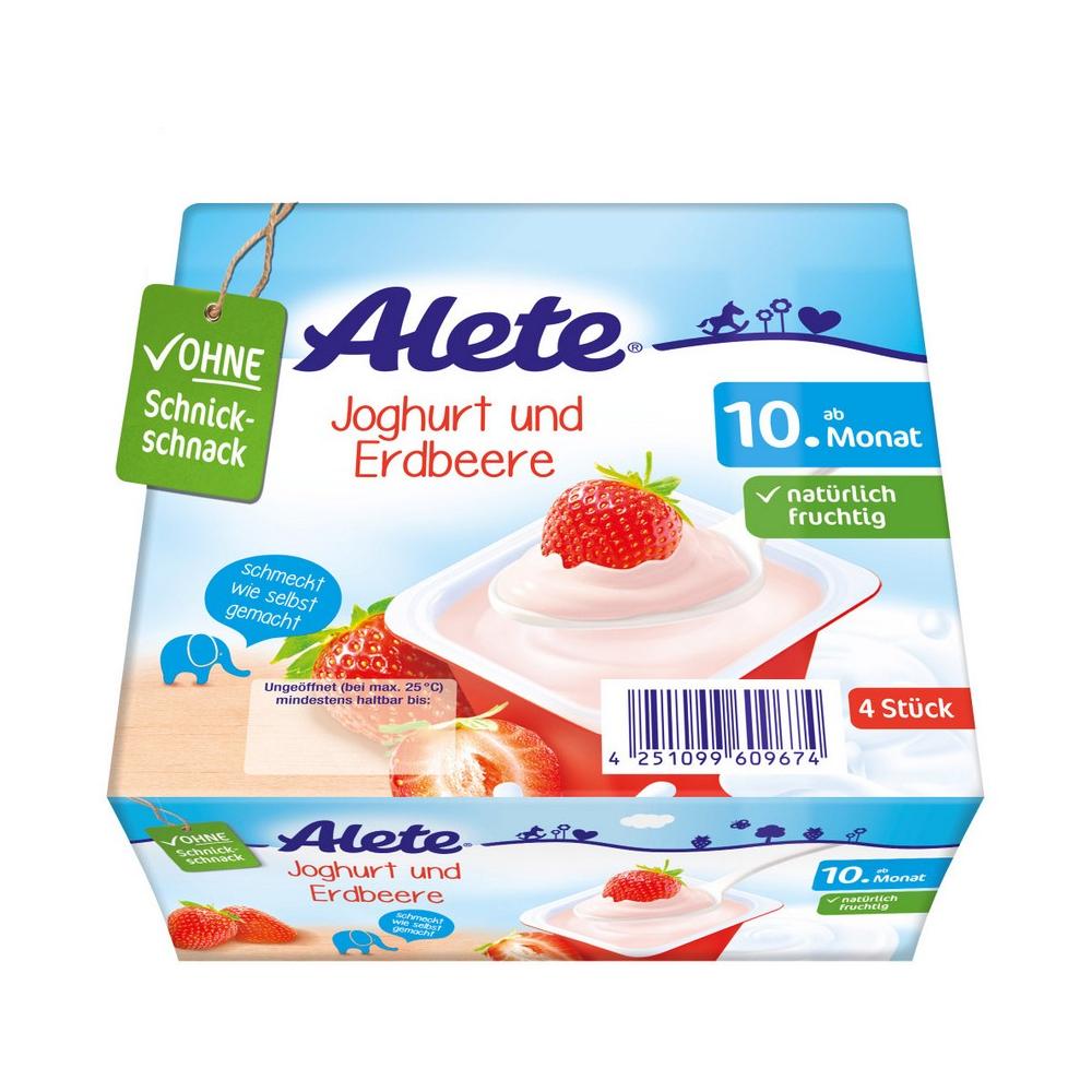 ALETE Jogurtový dezert jahodový 400 g