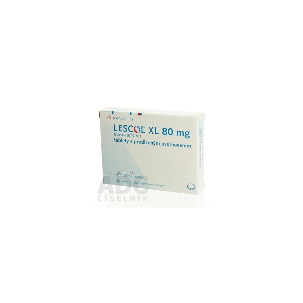Lescol XL 80 mg tbl plg 1x28 ks