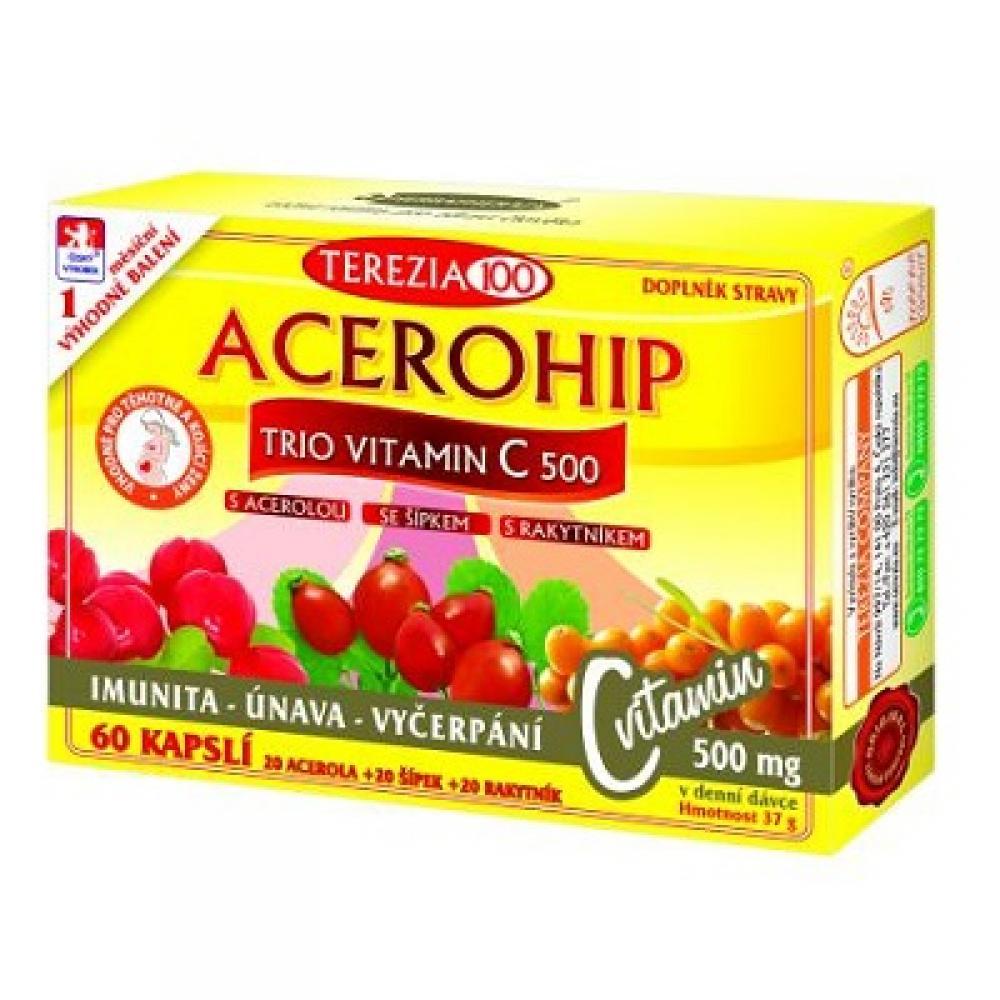 Terezia Company Acerohip Trio Vitamín C 500 mg 60 kapsúl
