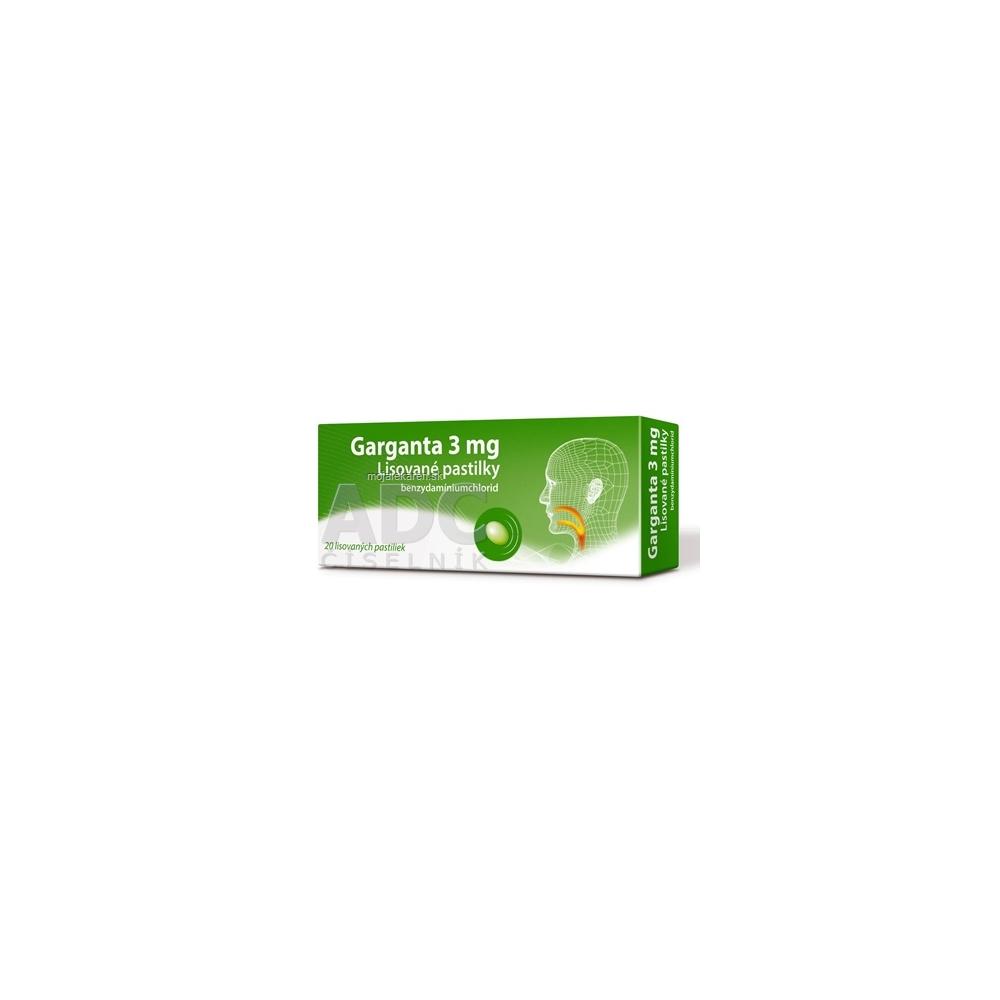 Garganta 3 mg pas ocp (blis.PVC/PE/PVDC/Al) 1x20 ks