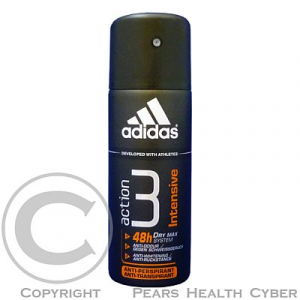 ADIDAS PÁNSKY ANTIPERSPIRANT ACTION 3 150ML INTENSIV
