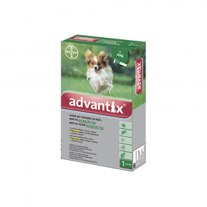 ADVANTIX Spot-on pre psov do 4 kg (4 pipety) 4x0,4 ml