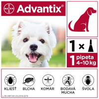 ADVANTIX Spot-on pre psov od 4 do 10 kg (1 pipeta) 1x1 ml