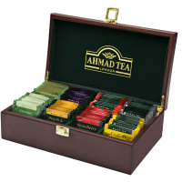 AHMAD TEA Drevená kazeta Tea Keeper 80x2g