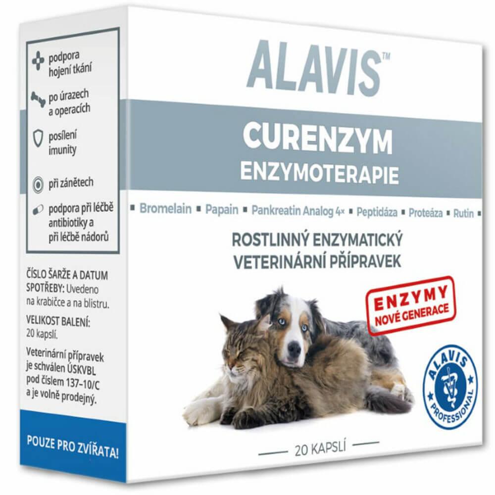 Alavis Enzymoterapia-Curenzym pre psov a mačky 20cps