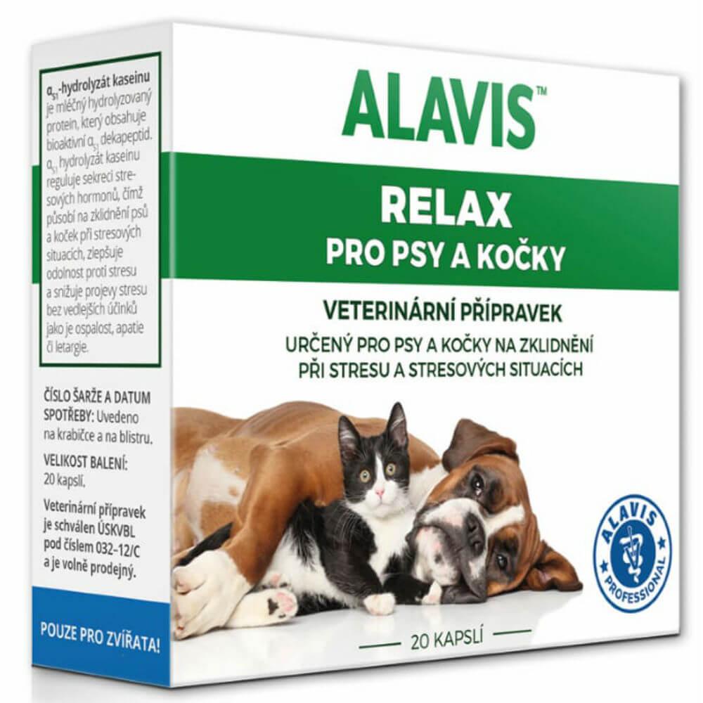 Alavis Relax pre psov a mačky 75mg 20cps