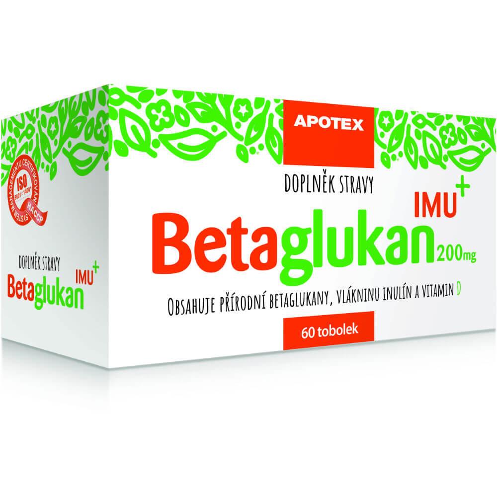 APOTEX Betaglukán IMU 200 mg 60 toboliek