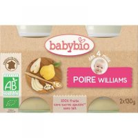 BABYBIO príkrm hruška Williams 2x130 g
