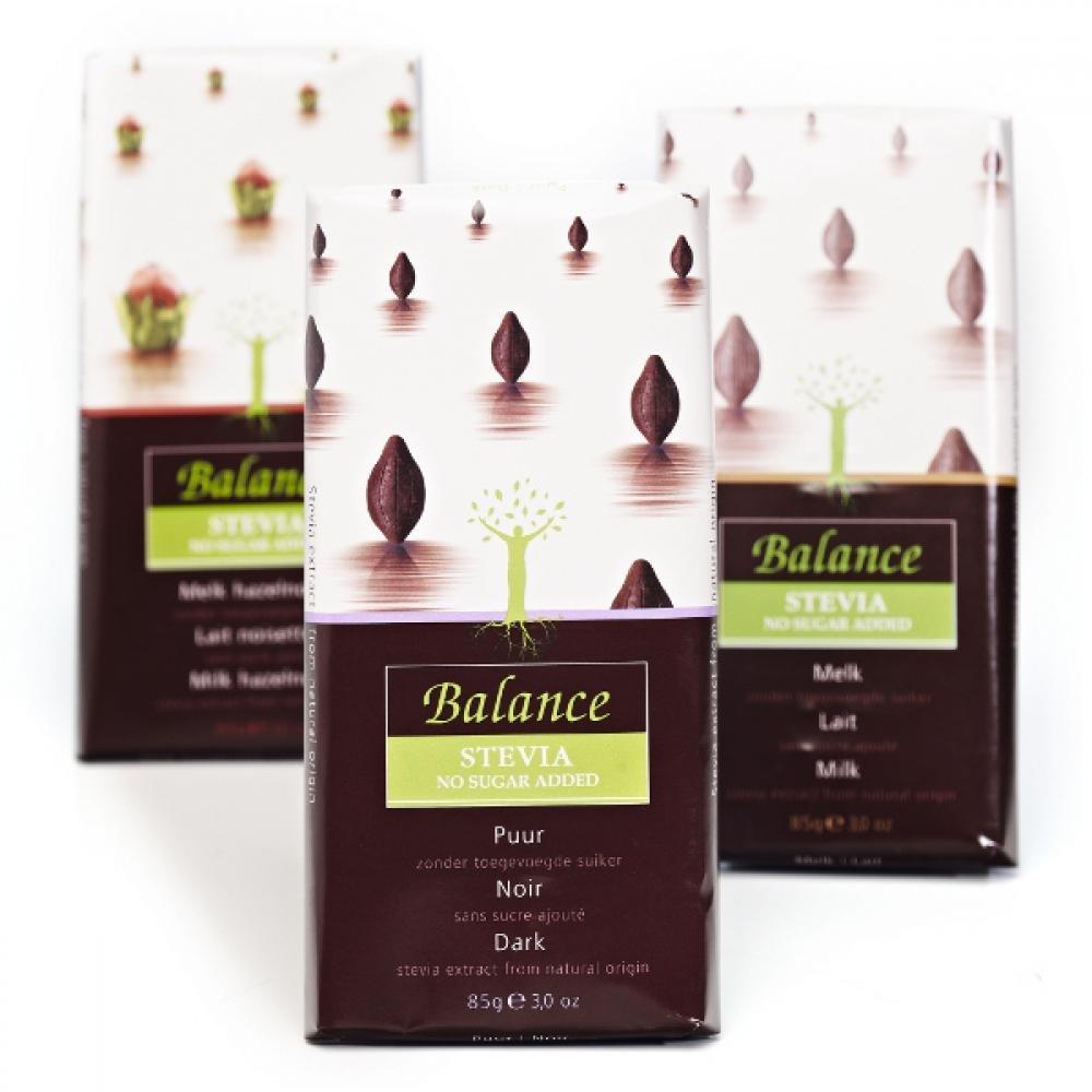 BALANCE Horká čokoláda so stéviou bez pridaného cukru 85 g