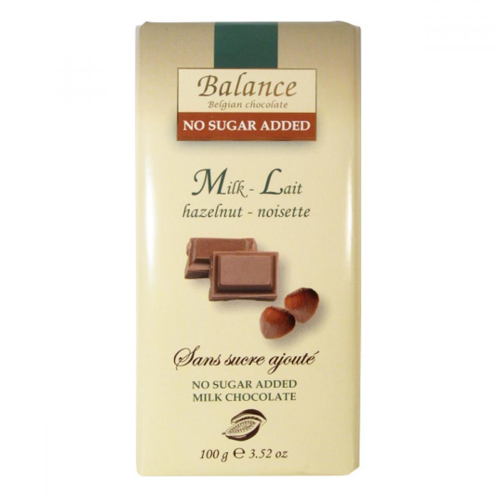 Balance mliečna čokoláda s lieskovými orechmi bez pridaného cukru 100g