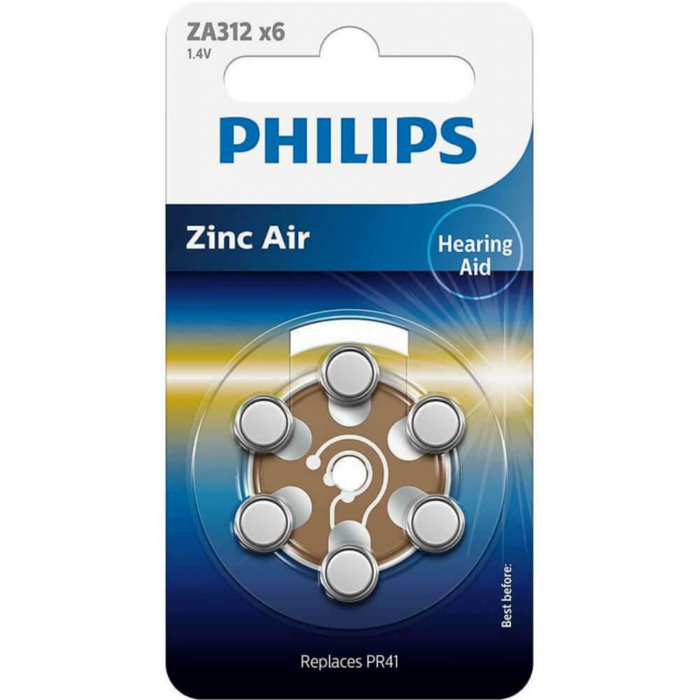 Batérie do načúvacích prístrojov PHILIPS ZA312B6A / 10 6ks