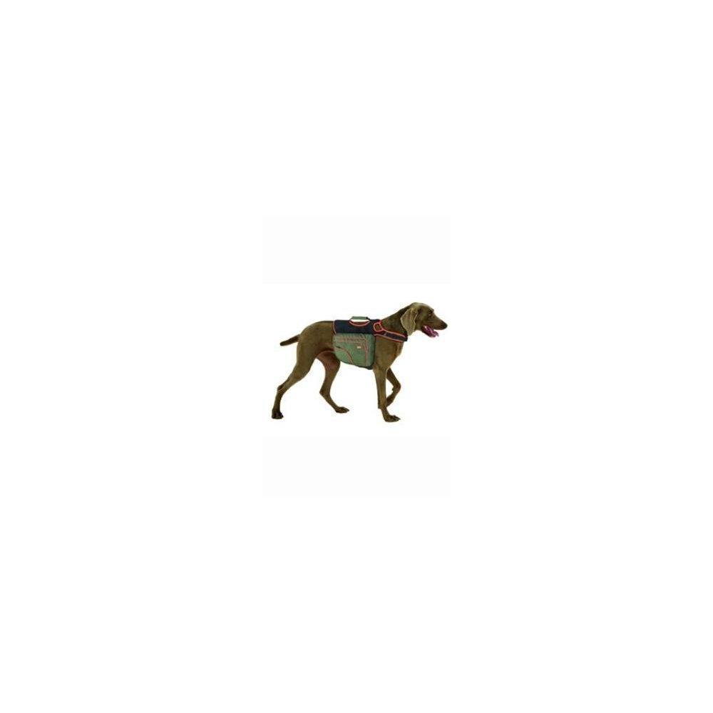 Batoh pro psy M zelená/oranž. reflexní KAR 1ks