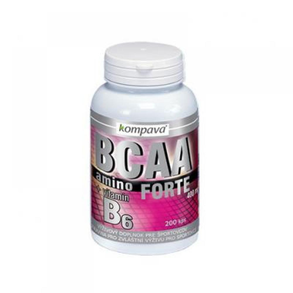 KOMPAVA Amino BCAA Forte 400 mg 200 kapsúl