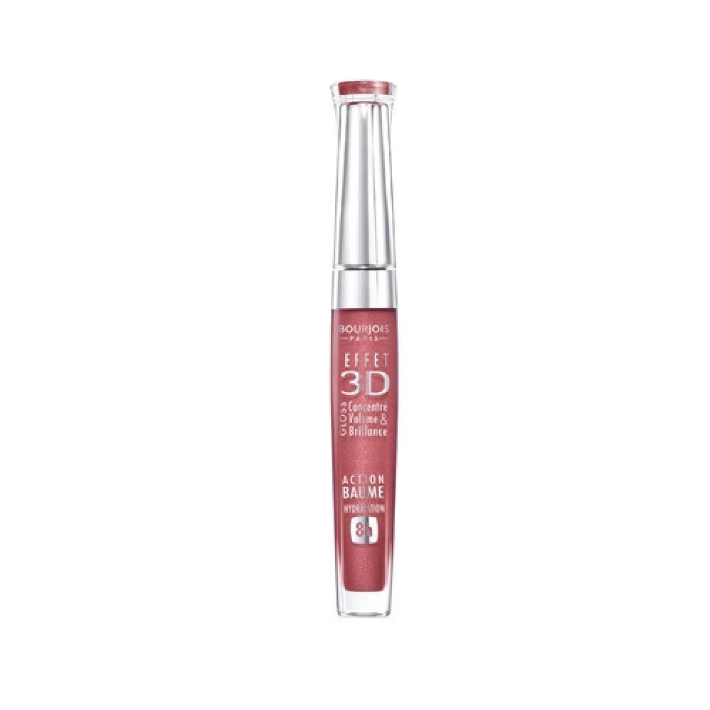 BOURJOIS Paris 3D Effet Gloss 03 5,7ml (Odstín 03 Brown Pink)