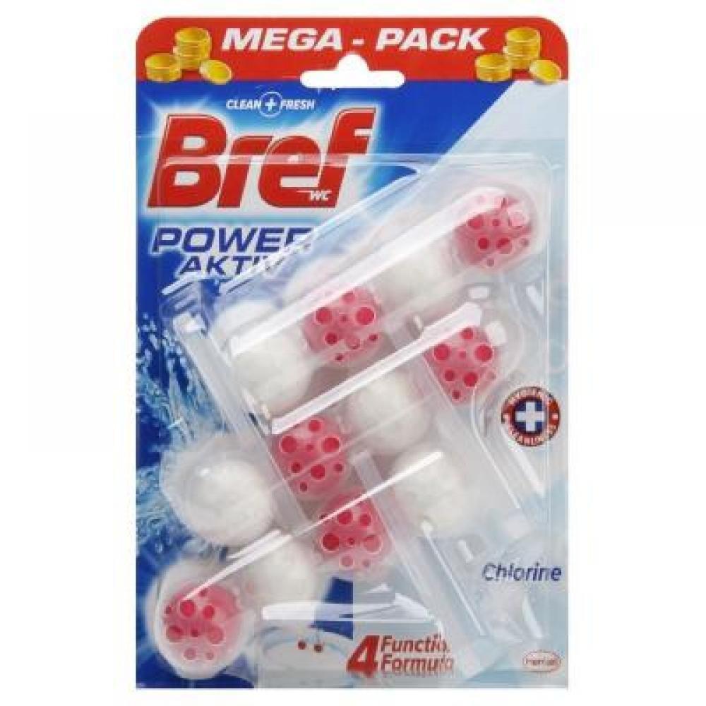 BREF Power Aktiv WC blok Chlorine 3x50 g