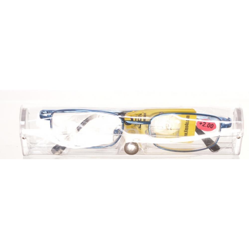 AMERICAN WAY Čítacie okuliare modrej v etui + 2.00