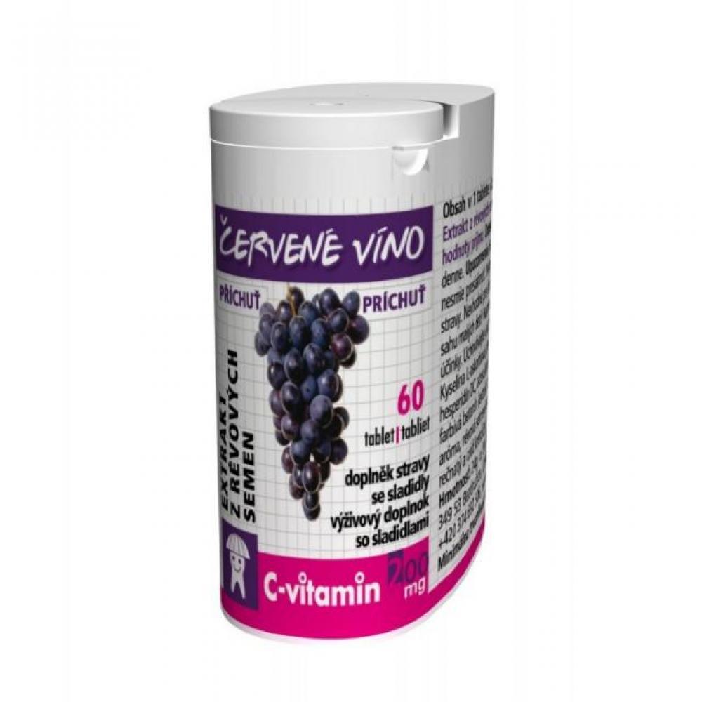 RAPETO C-Vitamin 200mg - Červené víno so sukralózou 60 tabliet