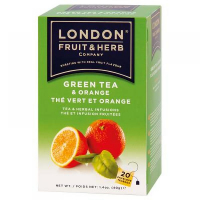 LONDON FRUIT & HERB Zelený čaj s pomarančom 20x2 g