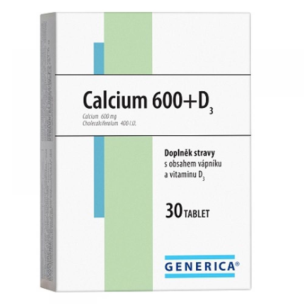 Generica Calcium 600 + D3 30 tabliet