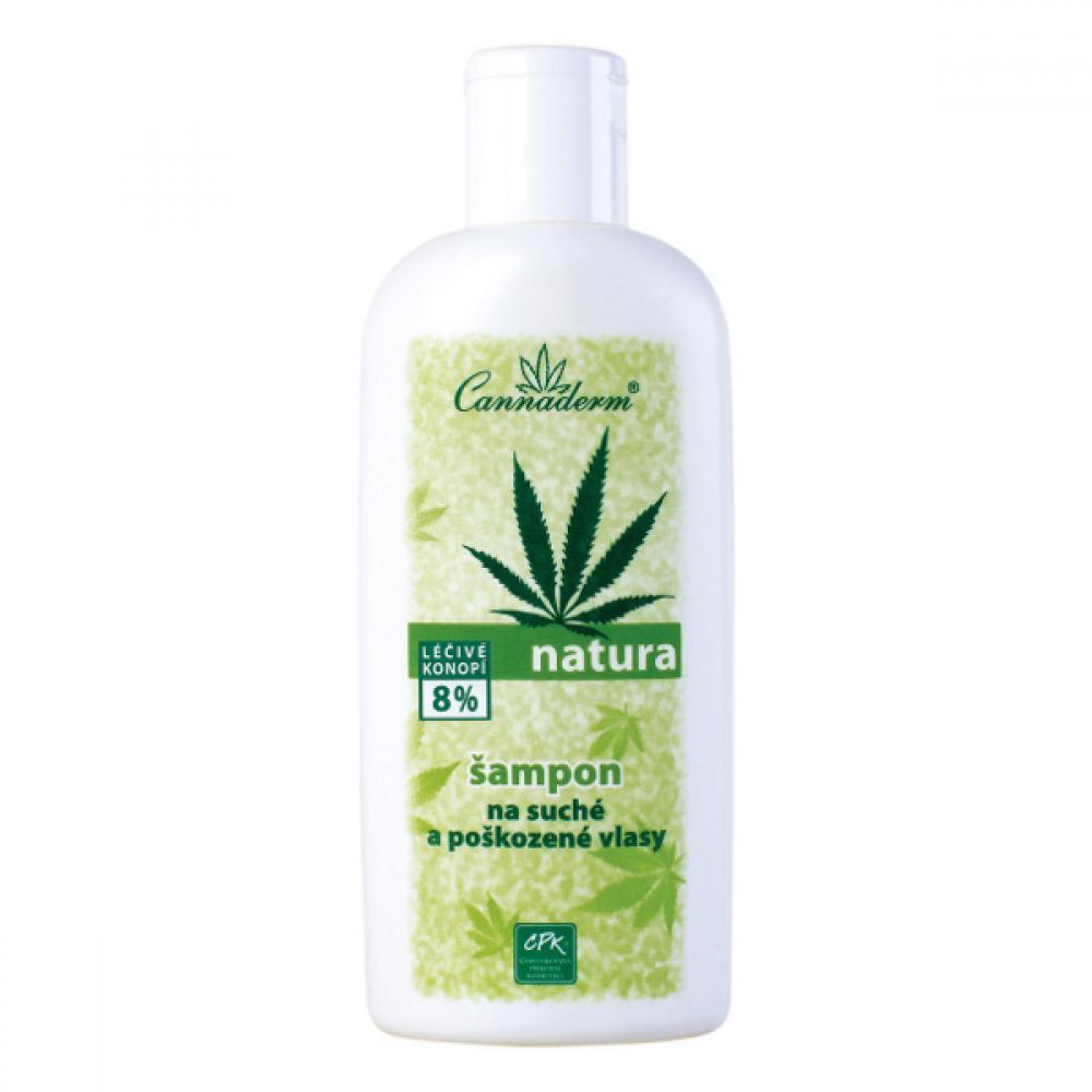 CANNADERM NATURA Šampón na suché a poškozené vlasy 200ml