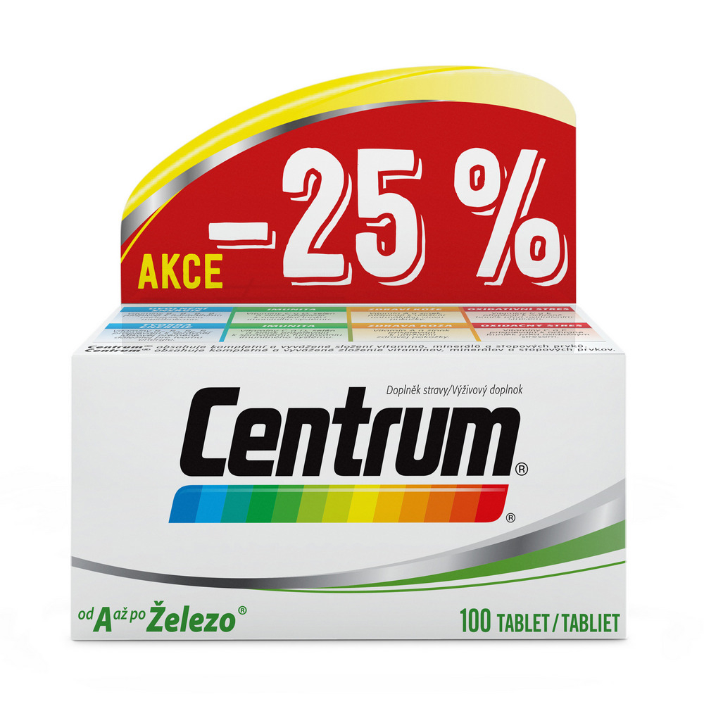 CENTRUM AZ s Multi-Efektom 100 tabliet