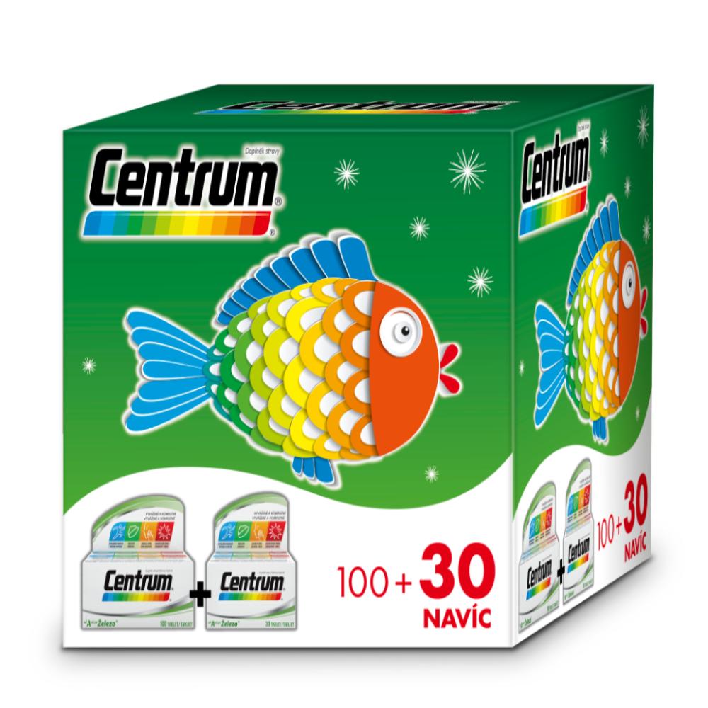 CENTRUM AZ s multi-efektom vianočné 100+30 tabliet