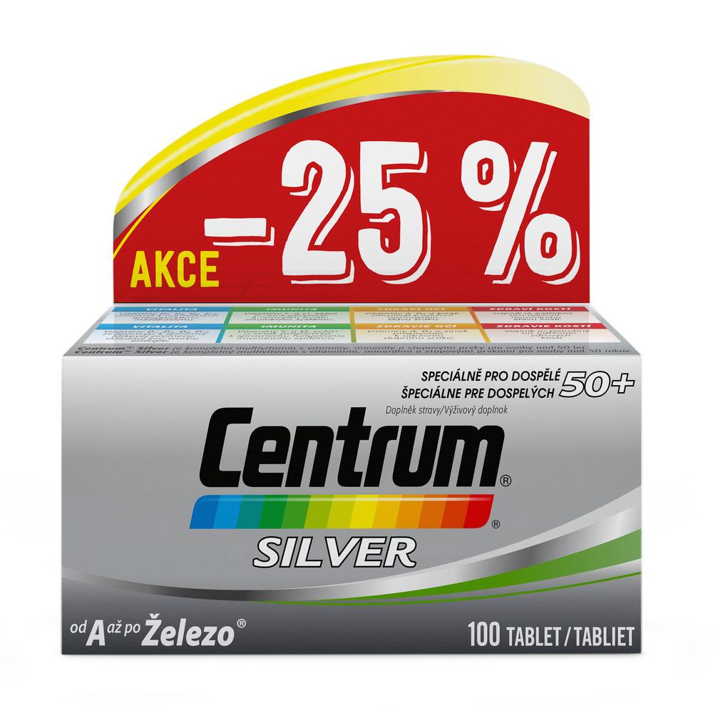 Centrum Silver s multi-efektom 50+ 100 tabliet%