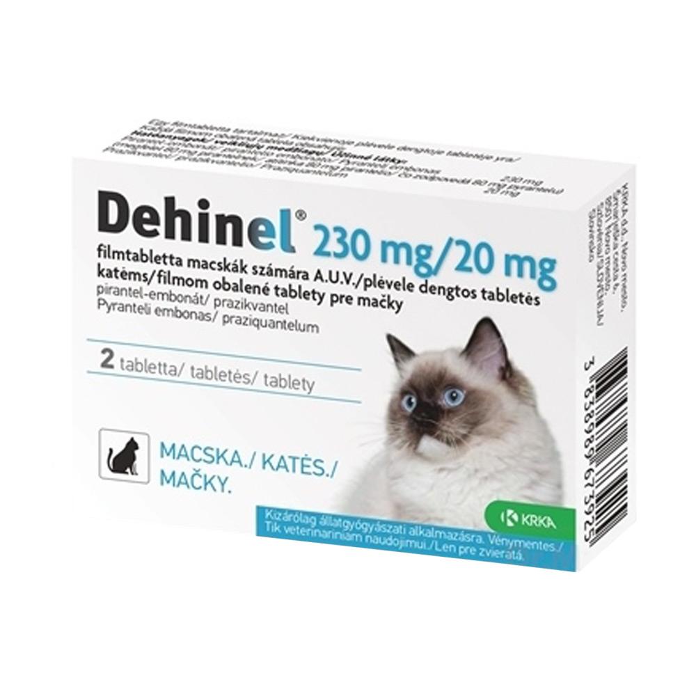 DEHINEL 230 mg/20 mg pre mačky flm 2 tabliety