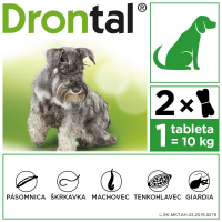 DRONTAL Dog Flavour 150/144/50 mg 2 tablety