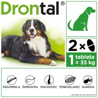 DRONTAL Plus flavour 35 kg 2 tablety