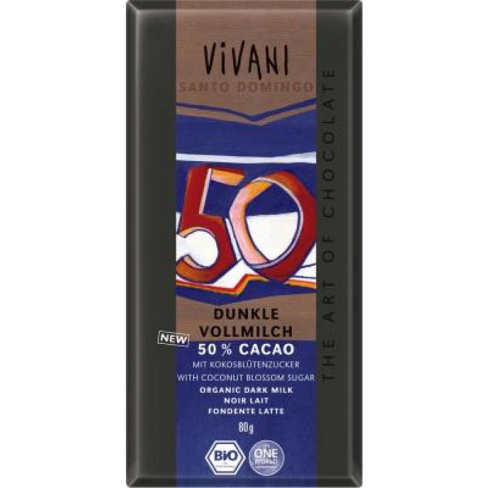 EDIZIONE GRANDE mliečna čokoláda s kokosovým cukrom VIVANI 80g - BIO