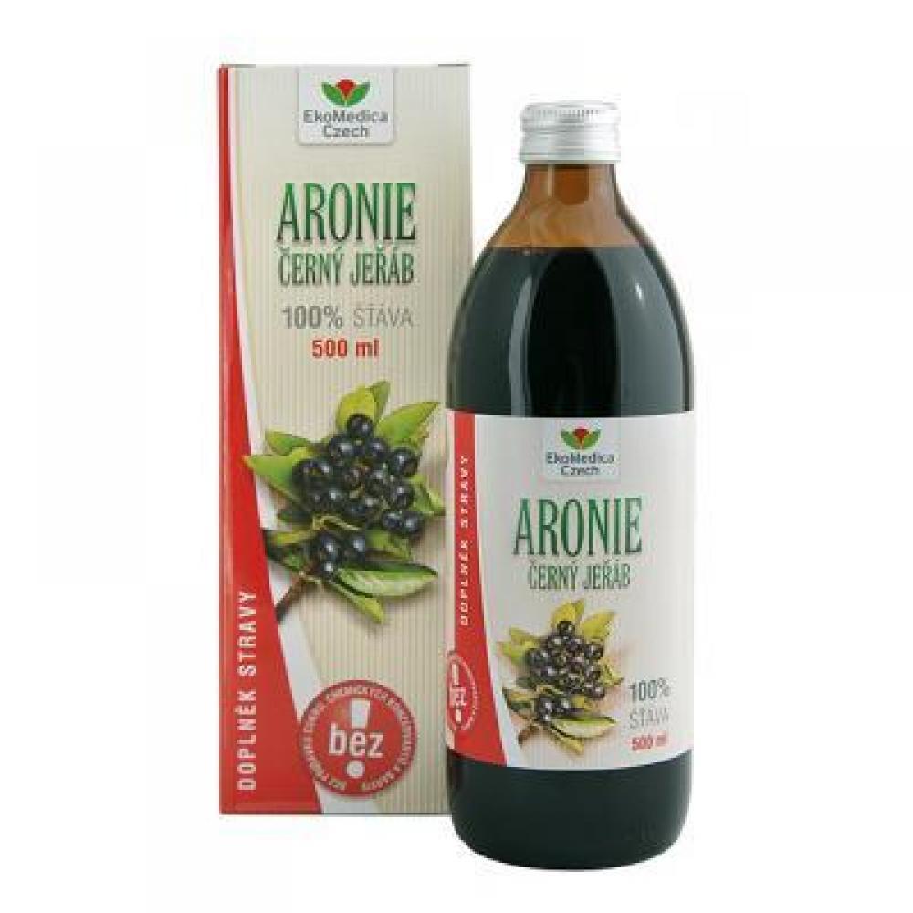 EkoMedica Šťava z plodov Arónie 100% 500 ml