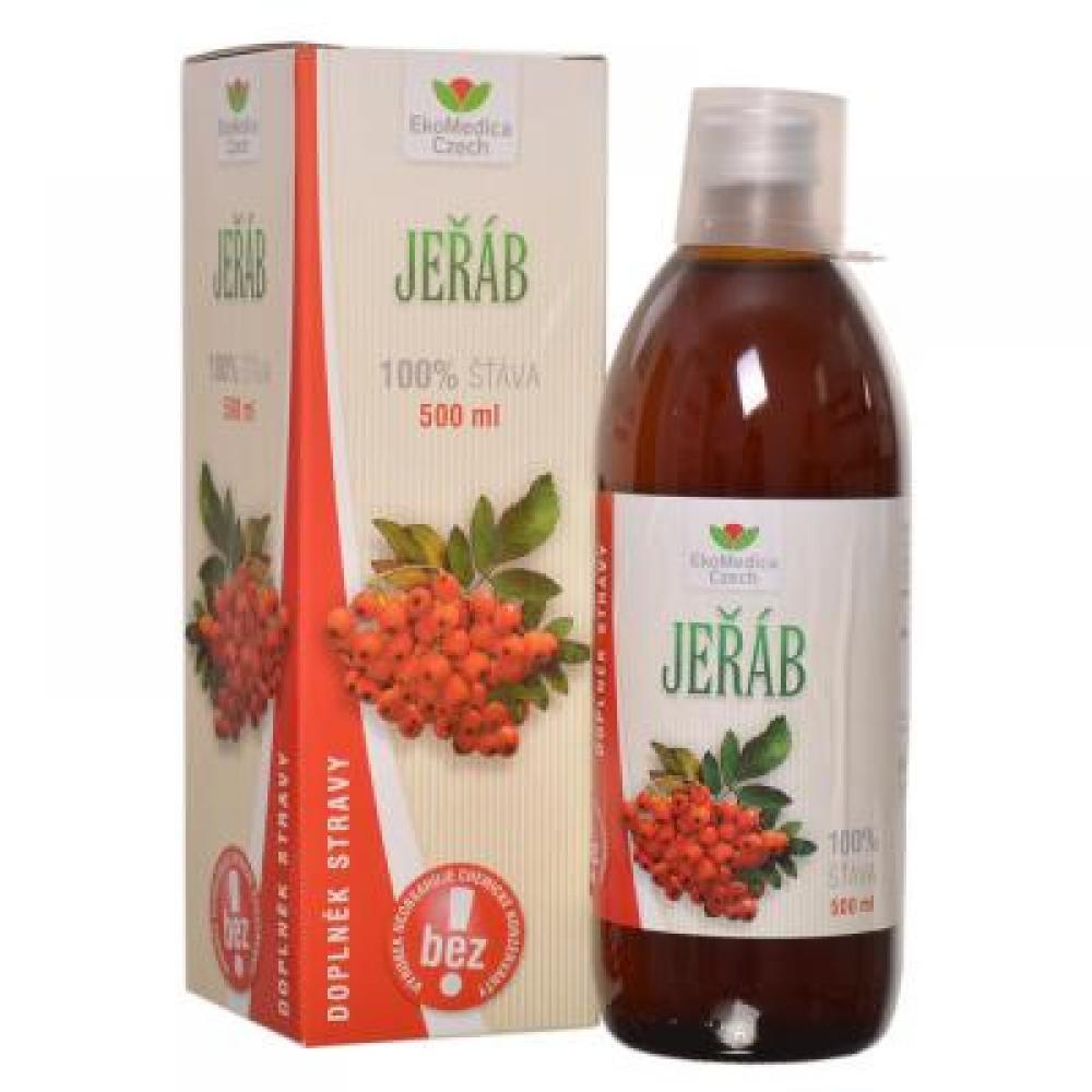 EKOMEDICA Jarabina 100% šťava 500 ml
