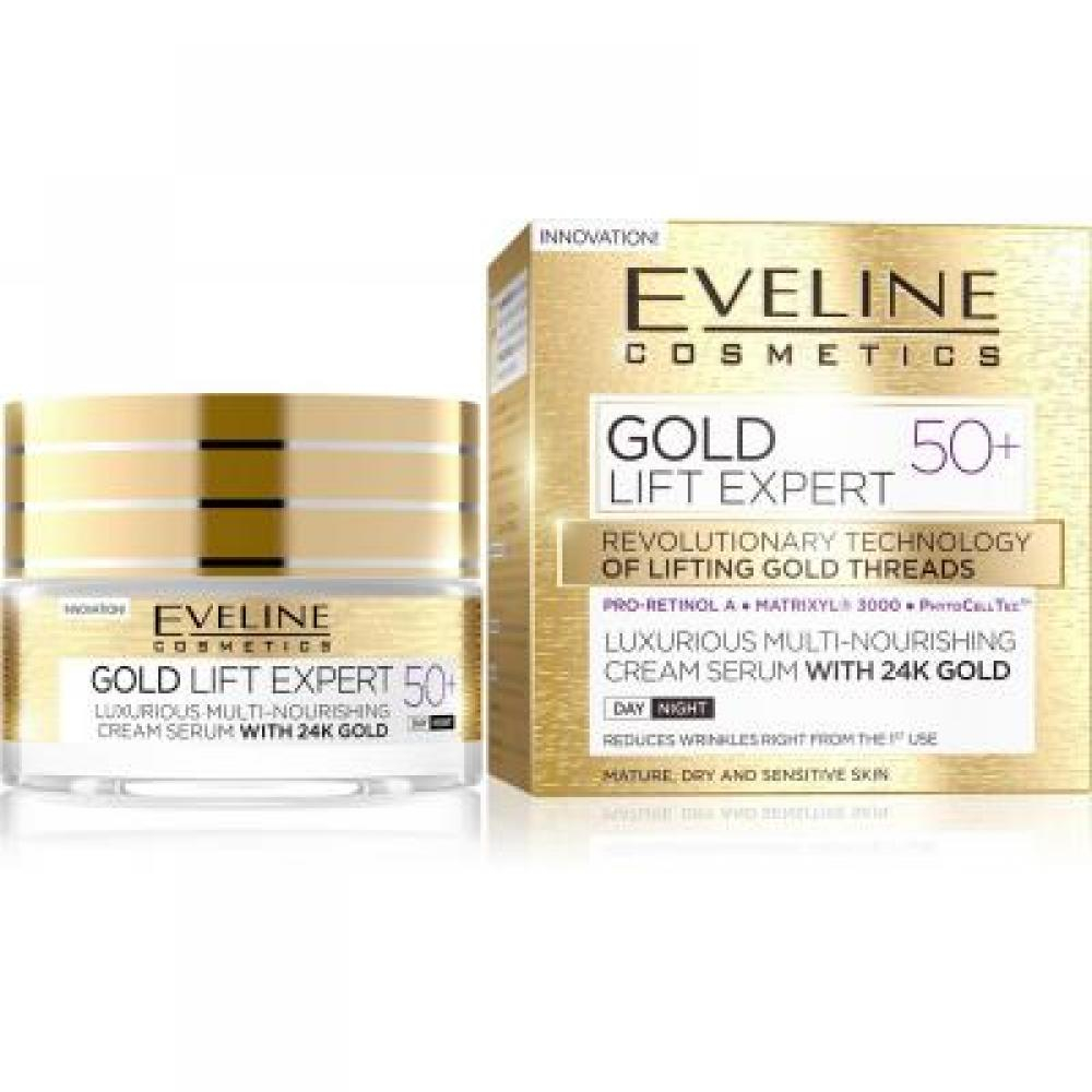 EVELINE Gold Lift Expert denný a nočný krém 50+ 50 ml