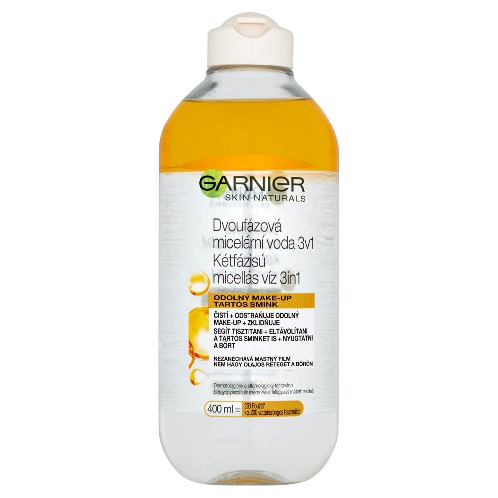GARNIER Skin Naturals dvojfázová micelárna voda 3v1 s olejom 400 ml