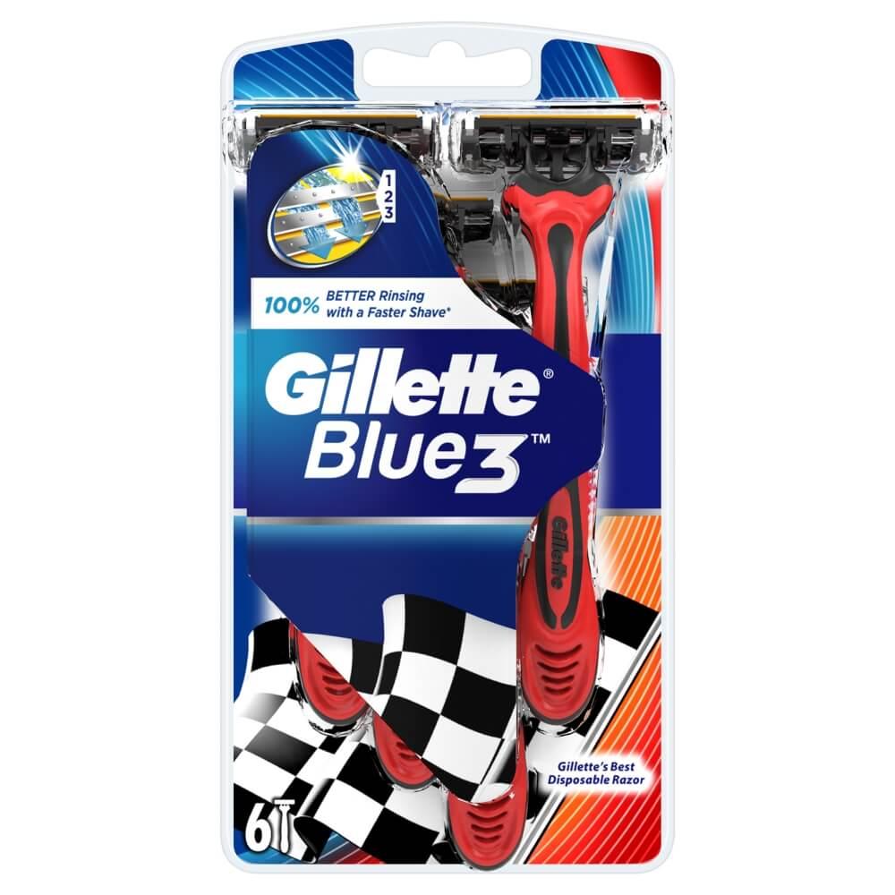 GILLETTE Blue3 pride holítko 6 ks