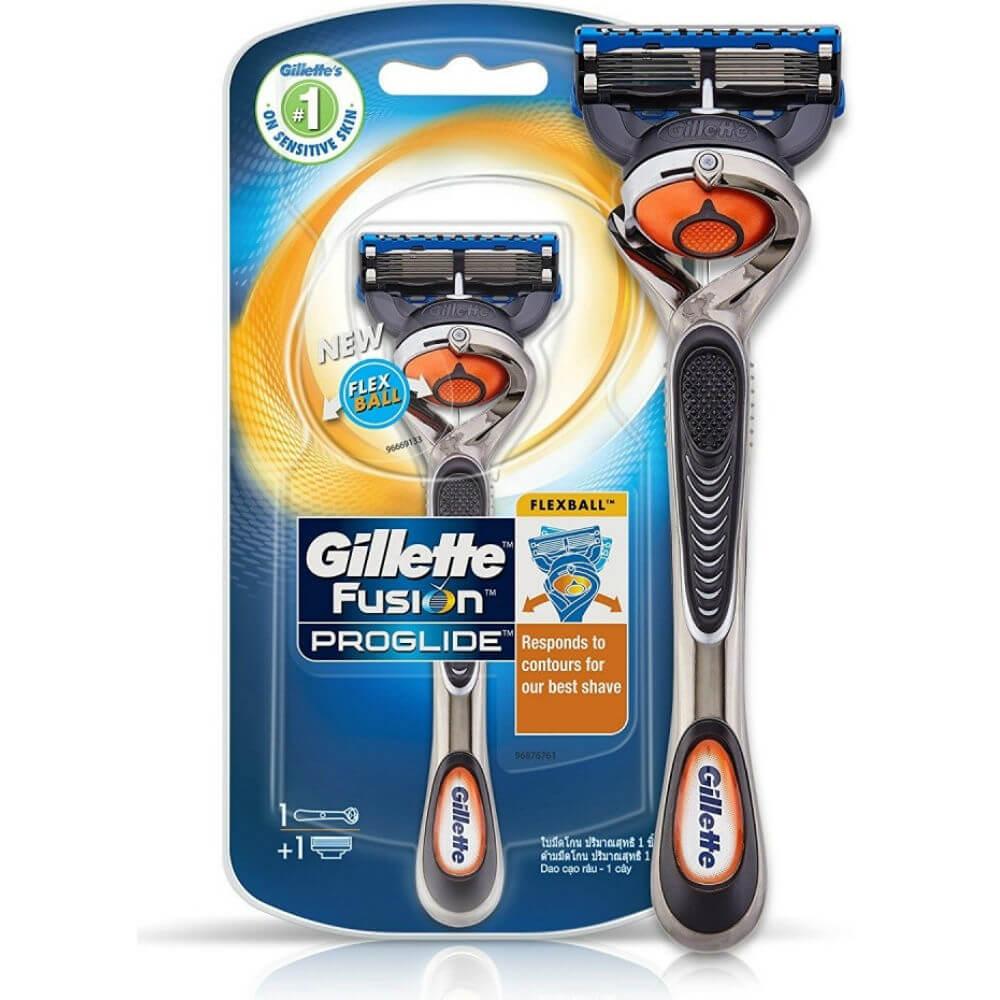 GILLETTE Fusion ProGlide FlexBall holiaci strojček + náhradné hlavice 1 ks