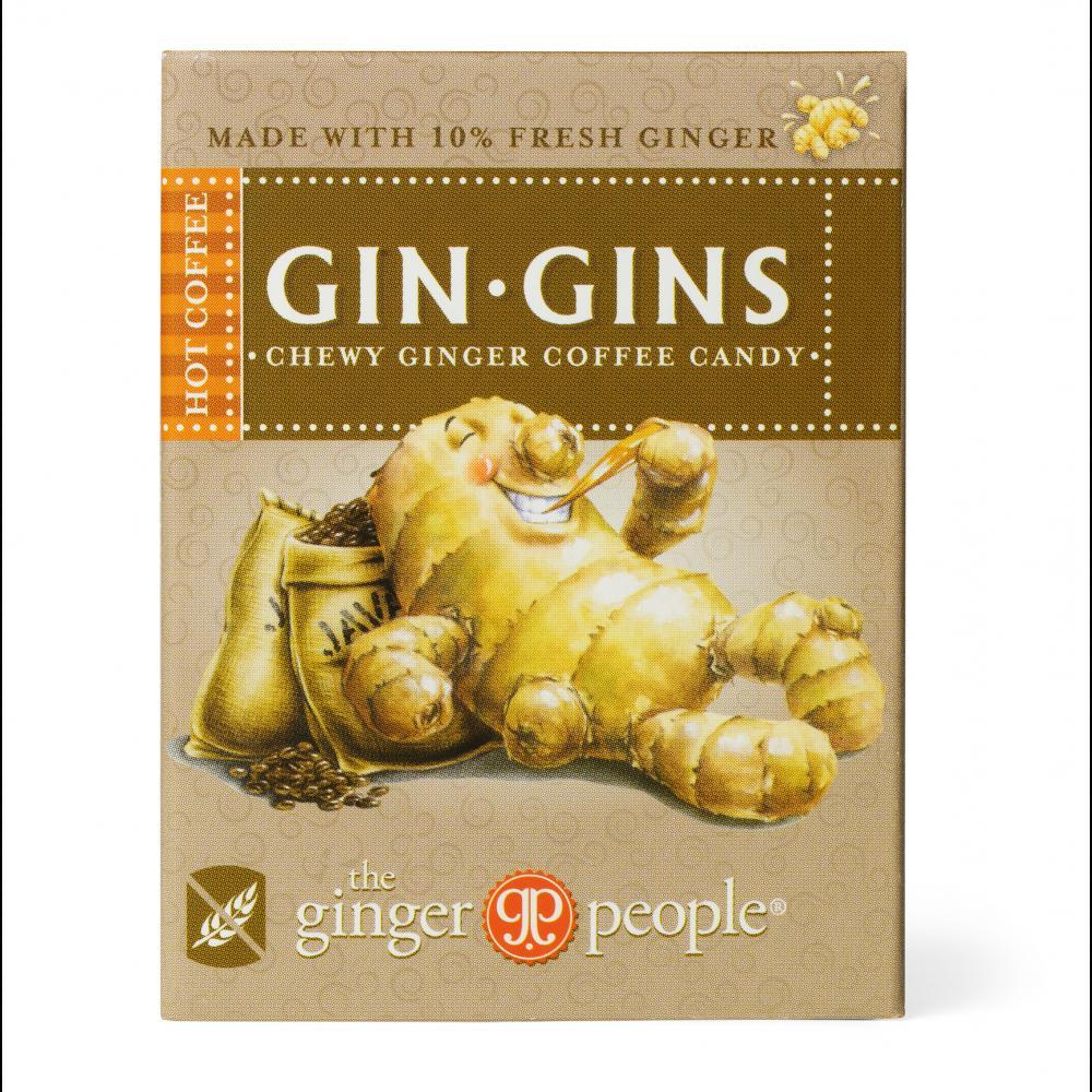 Gin Gins Hot Coffee Zázvorovo-kávové žvýkací bonbony 42 g
