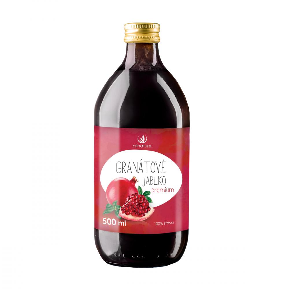 ALLNATURE Granátové jablko 100% šťava 500 ml