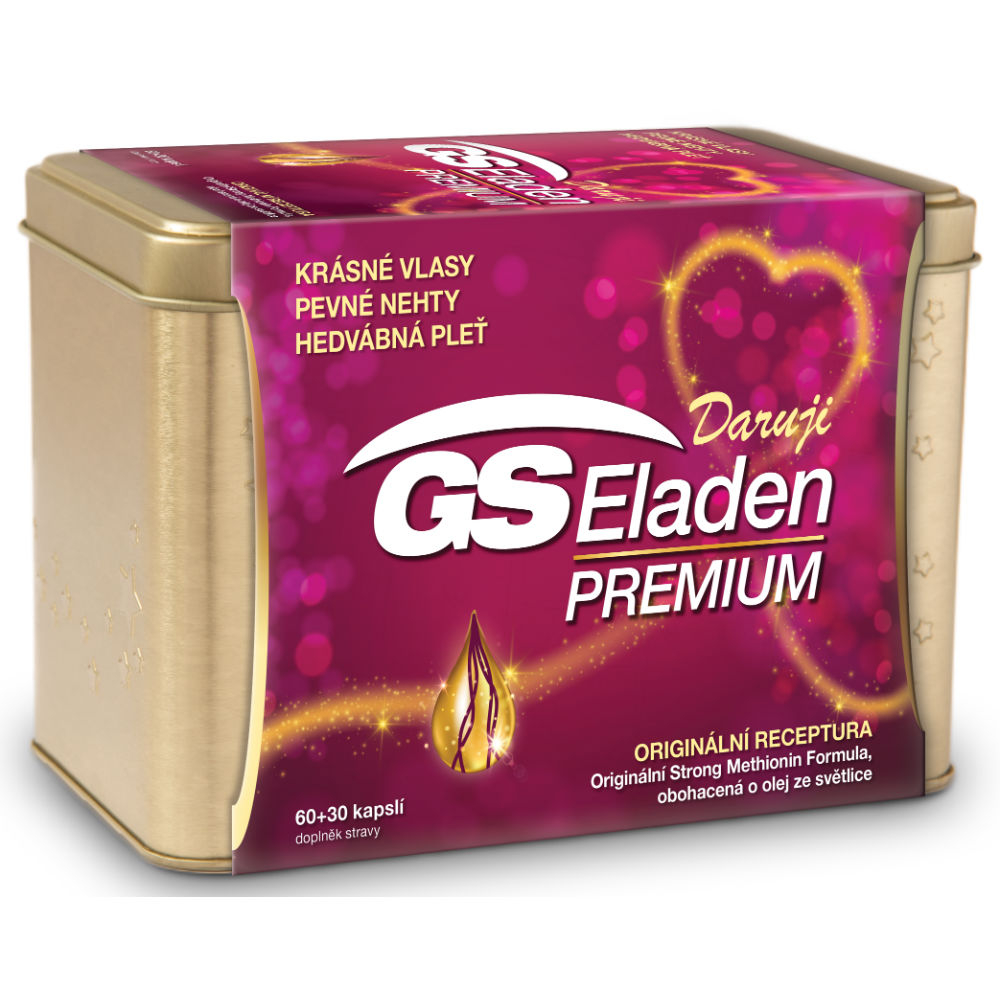 GS Eladen Premium v plechovej krabičke 90 kapsúl