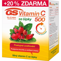 GS Vitamín C 500 so šípkami 50 + 10 tablet