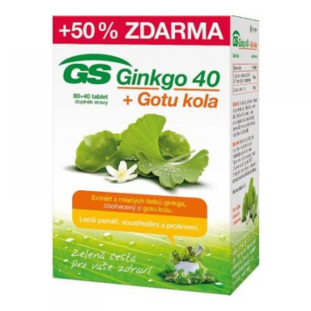 GS Ginkgo 40 + Gotu kola 80+40 tabliet