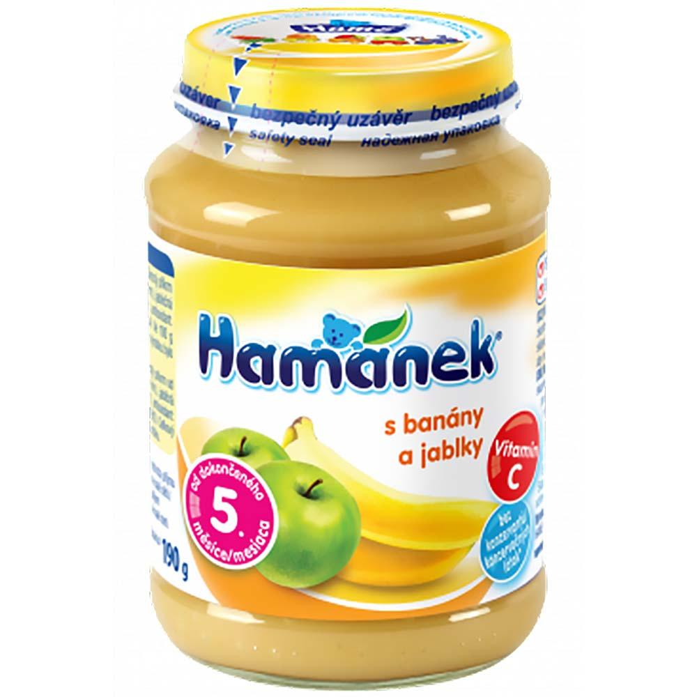 Dojčenská výživa s banánmi a jablkami 190 g