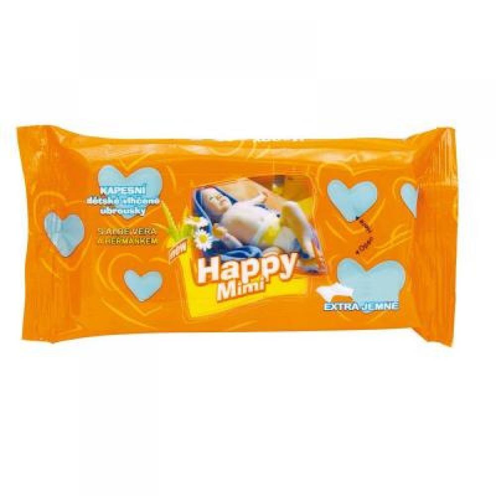 Happy Mimi detské toaletné vlhčené obrúsky s aloe 72ks