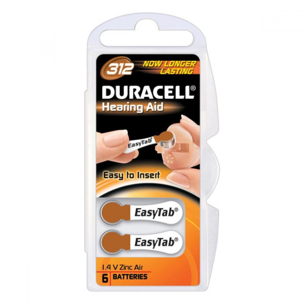 Duracell Hearing Aid DA312 B6