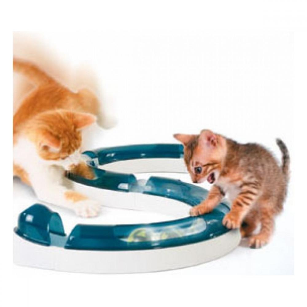 Hračka mačka guľovou dráhou s loptičkou CAT IT plast 1ks