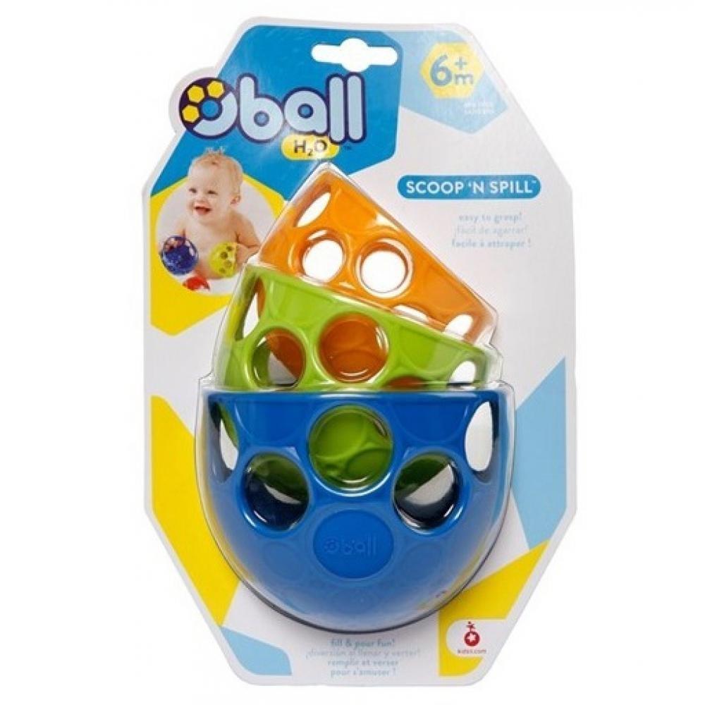 BRIGHT STARTS hračka do vody naberačky 6m + 3 kusy