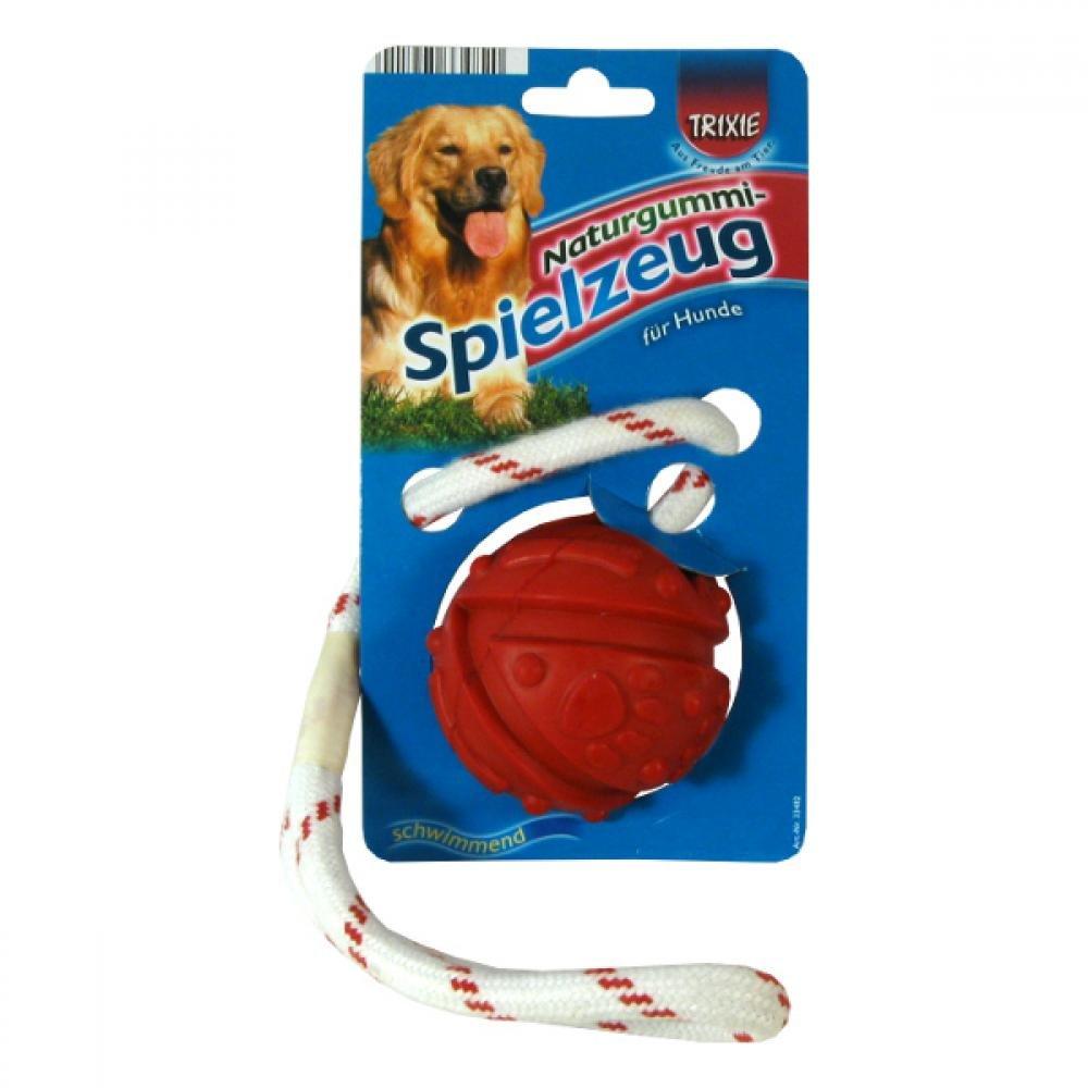 Hračka pes Lopta plávajúce na na šnúrke 7cm / 35cm Trixie