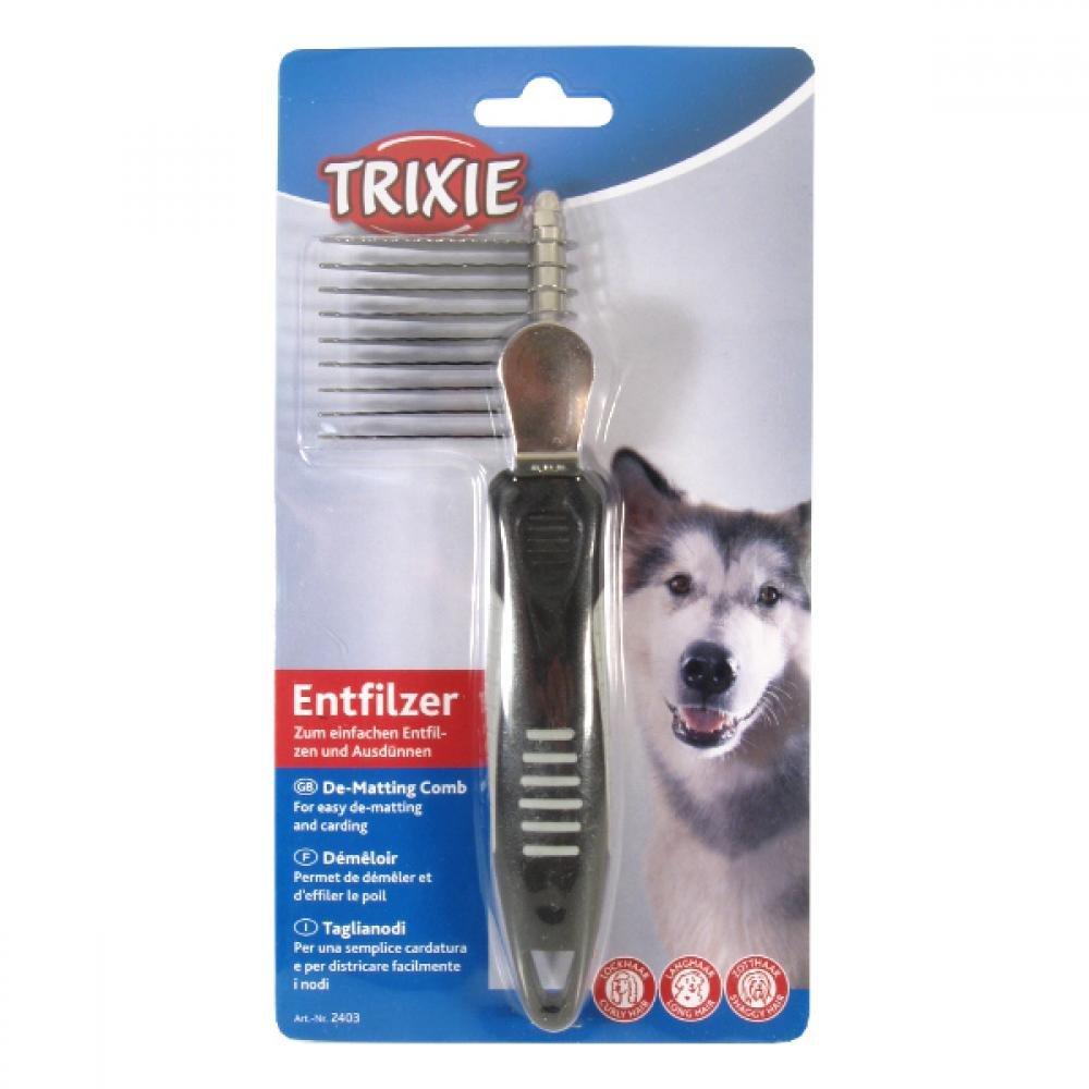 Hřeben prořezávací kov+plast, zuby 5cm Trixie
