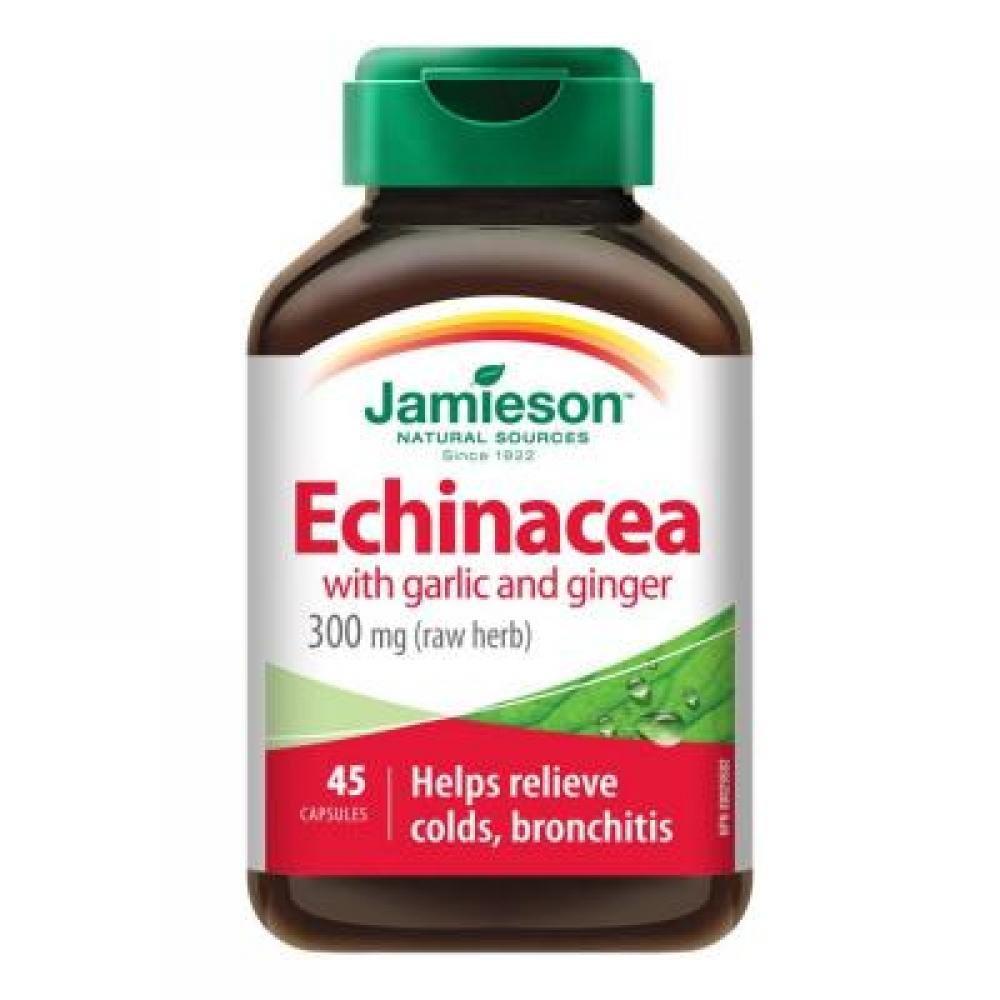Jamieson Echinacea s cesnakom a zázvorom 45 kapsúl